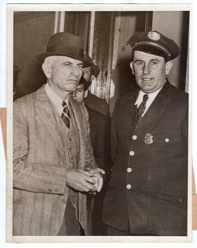 1935 Captain Little & Charlotte Prison Guards Arrested Original Press Photo