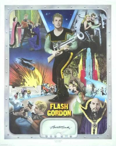Flash Gordan-Buster Crabbe-Original Autograph signed poster-Rare