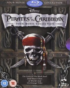 BLU-RAY! PIRATES OF THE CARIBBEAN ALL 4 MOVIES BOX SET