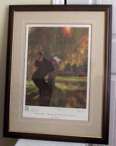 GARY PLAYER AUTOGRAPHED #ed FRAMED LTD. EDIT B.FUCH'S