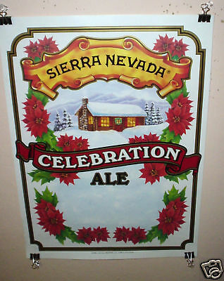 SIERRA NEVADA BEER POSTER CELEBRATION ALE CRAFT MICRO