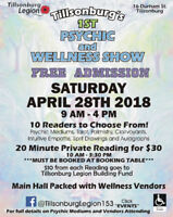 Tillsonburg's 1st Psychic and Wellness Show @ Tillsonburg Legion