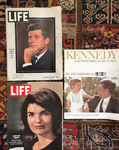 Vintage LIFE & LOOK Magazines, John F. Kennedy 1963 & 4 -$12