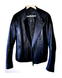 Armani Exchange : Manteau noir / Black biker jacket