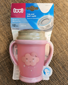Pretty non spill sippy cup for baby.