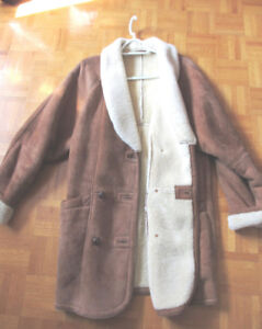 LADIES DANIER SHEARLING SHEEPSKIN VINTAGE WARM WINTER COAT