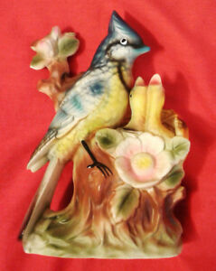 "vintage porcelain bird figurine 7"" tall, excellent condition"