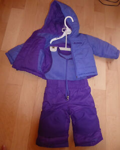 NEW reversible Columbia snowsuit, fleece coat, size 6 - 12m