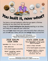 COIN SHOW IN GUELPH SATURDAY APRIL 27, 2019