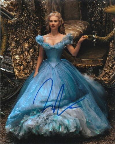 LILY JAMES.. Cinderella (Disney) SIGNED