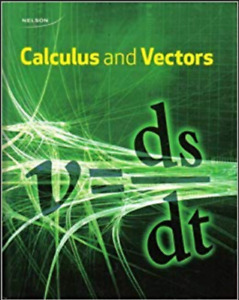 Nelson Calculus & Vectors 12 Textbook PDF and ANSWERS