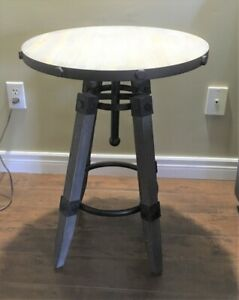 Industrial Side Table - Excellent Condition