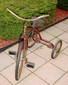 Antique 1950s childs Sunshine tricycle made in Waterloo Ont London Ontario image 1
