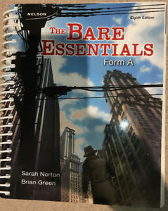 The Bare Essentials, Form A, SLC