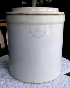 Crownware 3 Gal Crock With Lid (Vintage Stoneware)
