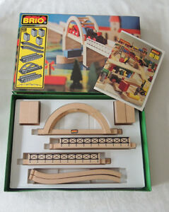 Suspension Bridge (9 pcs) Brio Vintage Sweden Original Box