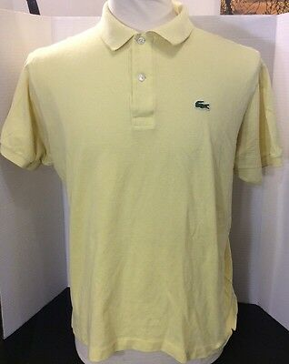 Lacoste Devanlay Short Sleeve Polo Shirt Yellow Size 6 Large
