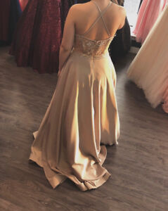 Champagne Color Prom Dress Size 5/6