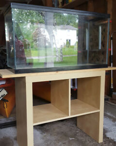 36 gallon aquarium with stand and accessories