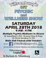 Tillsonburg's 1st Psychic and Wellness Show @ Tillsonburg Legion