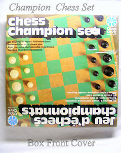 Vintage mint sealed box Copp Clark Canada Champion Chess set