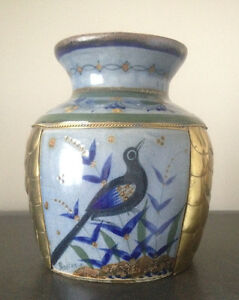 Grass Bird in Blue&Brass