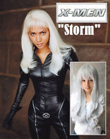 NEW: Deluxe 80cm Long Grey-Silver Wig for X-Men STORM Costume