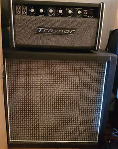 Vintage Traynor YBA-1A with Custom Smaller Basket Weave Cabinet