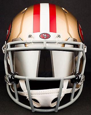 0763ad73e SAN FRANCISCO 49ers NFL Football Helmet with CHROME MIRROR Visor   Eye  Shield
