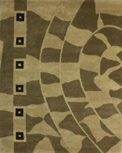 VENTE!!! - Tapis moderne en laine 8' x 10' (réf. #TF-49228)