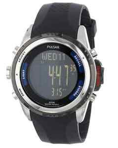 Pulsar Men's Digital Watch altimeter barometer & thermometer NEW