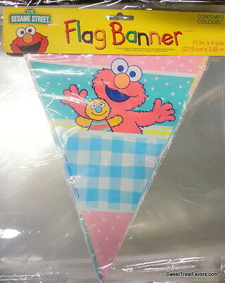 Baby Elmo Party Decorations (Elmo Sesame Street Baby Party Decoration FLAG Garland Birthday Banner Poster)