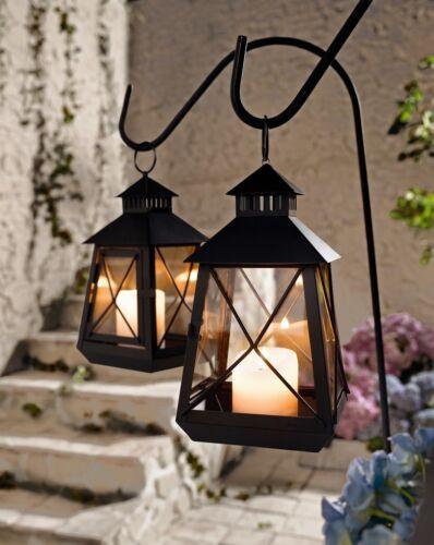 Laterne Metall Braun Klein Kerzenhalter Windlicht Garten-Laterne Kerzenständer