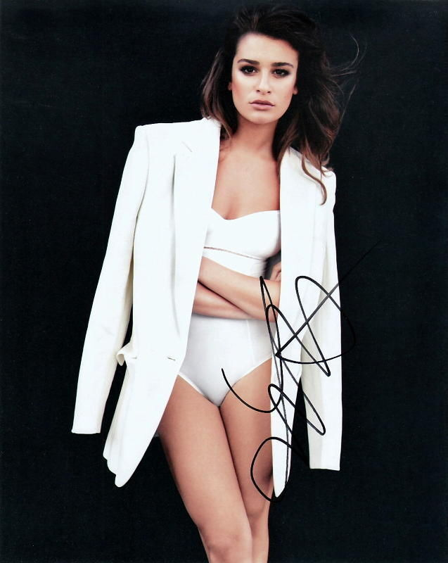 LEA MICHELE.. Sexy Stunner (Glee) SIGNED