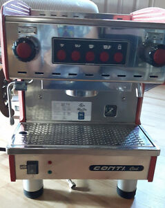 CONTI single group cappuccino machine - Red