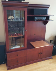"TV Furniture with display case (Fits 42"" TV comfortable)"