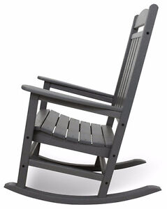 POLY-WOOD R100GY Presidential Rocker, Slate Grey Cambridge Kitchener Area image 4