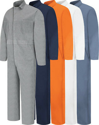 NEW Red Kap Men's Snap Front Cotton Work Coveralls - 5 colors - CC14 Uniform - Mens Coveralls