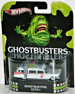 Hot Wheels Retro 1/64 Ghostbusters Ecto-1 Diecast Car