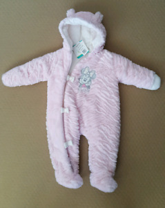 Disney Plush Pramsuit - baby girl 6-12 months