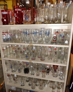 Lots of Vintage BEER GLASSES & ALCOHOL GLASSES, Prices $6 to $12