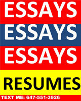 EXCELLENT ESSAYS, RESUMES & COVER LETTERS