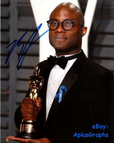 BARRY JENKINS.. with His Academy Award - SIGNED