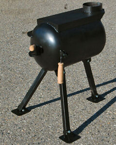 Deluxe Wall Tent Wood Stove W/ Folding Legs