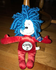 Thing 2 Plush stuffed animal Dr. Seuss Cat in the Hat 11 Inches