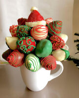 Holiday chocolate dipped strawberry bouquet!!