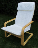 """IKEA """"Poang"""" Style Chair with extra cover"""