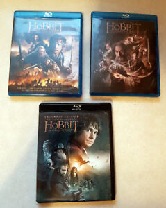 Blu Ray The Hobbit Trilogy, Excellent Condition An Unexpected Jo
