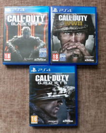 x3 Call Of Duty Games For PS4