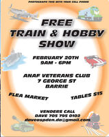 FREE TRAIN & HOBBY SHOW FEBRUARY 20 . 9AM - 6PM ANAF VETERANS CL